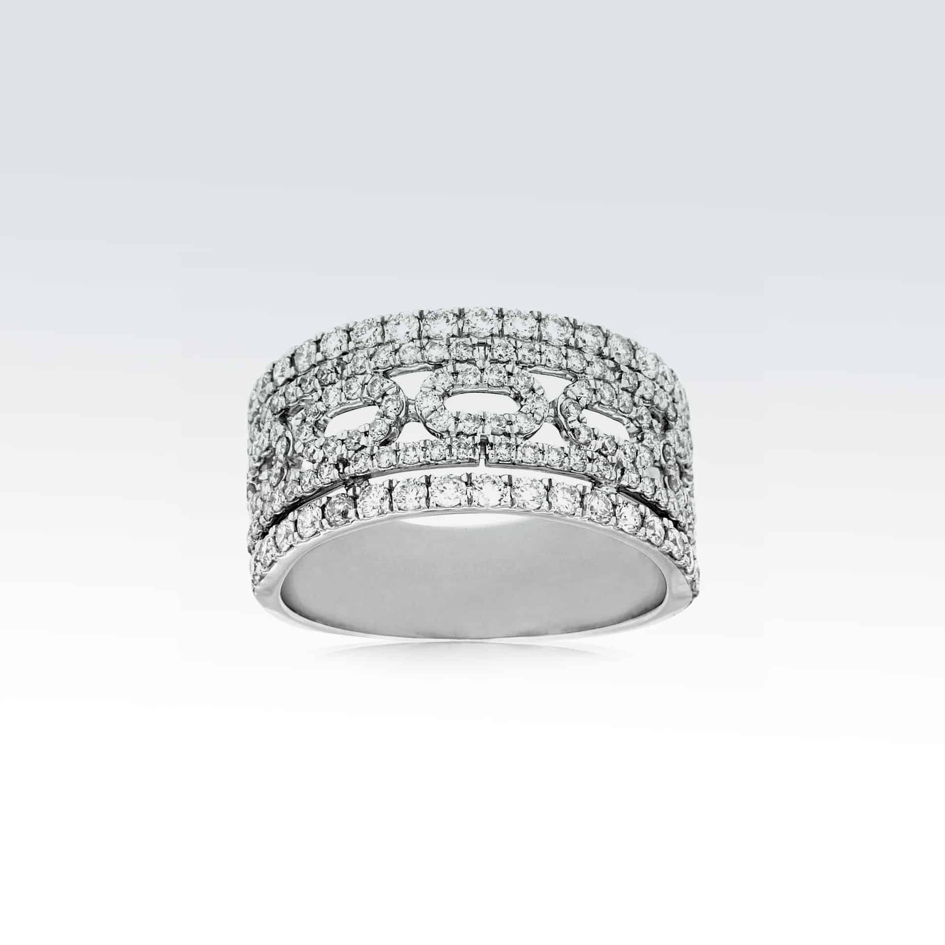 White Gold Diamond Band><h2 class=
