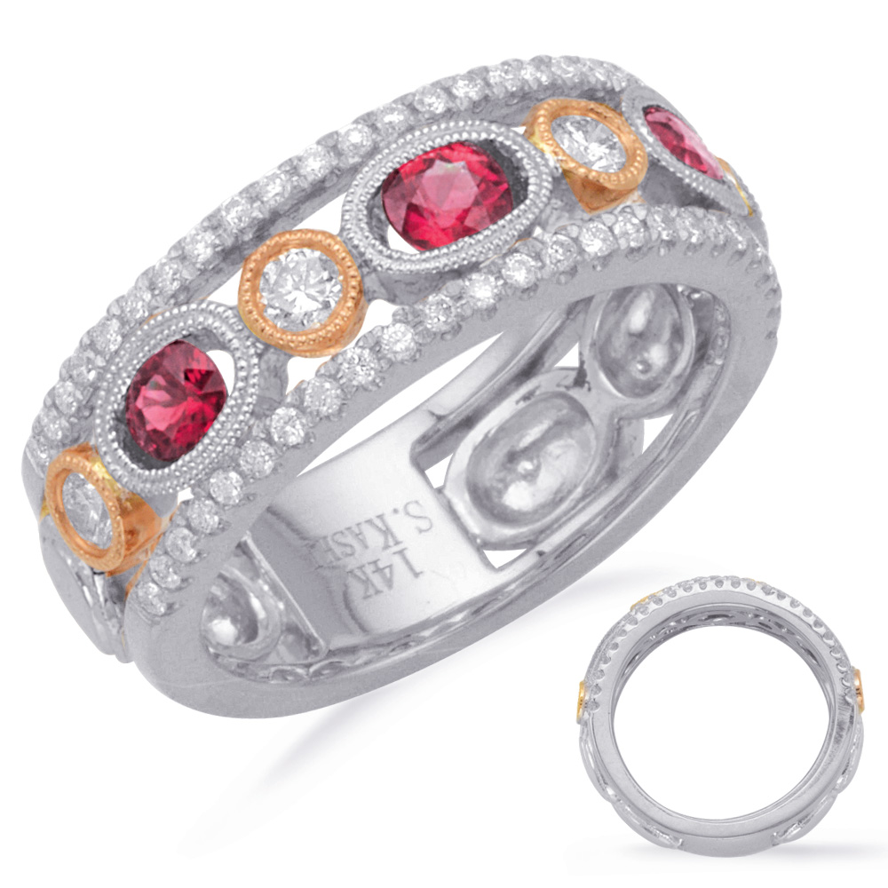 14 K Ruby and Diamond Ring