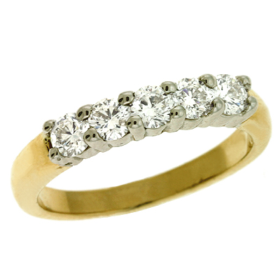 14K 5-stone Diamond ring
