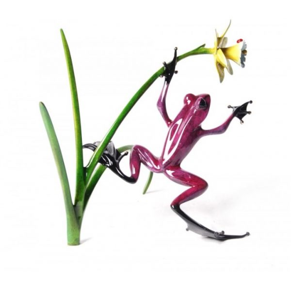 Daffodil Frog Sculpture by Tim Cotterill